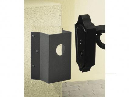 Eckbefestigung für Wandleuchten, Aluminium schwarz, Höhe 19cm