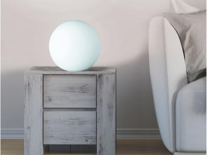 Kugel LED Tischleuchte Bodenlampe Deko Glaskugel innen Weiß Ø20cm Lichtobjekte - Vorschau 4