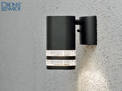 Wandleuchte MODENA Aluminium schwarz, Downlight, GU10, Höhe 15, 5 cm - Vorschau 3