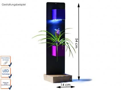 Deko- Set Magnettafel mit Holzfuß 2 Töpfe und LED-Beleuchtung, KalaMitica