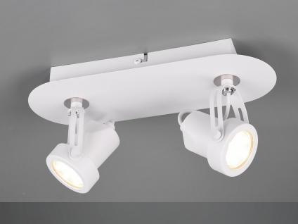 RETRO Deckenstrahler 2-flammig Weiß LED Beleuchtung Flur, Diele und Treppenhaus