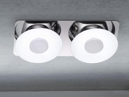 LED-Deckenleuchte, Chrom / Metall weiß lackiert, Wofi-Leuchten - Vorschau 2