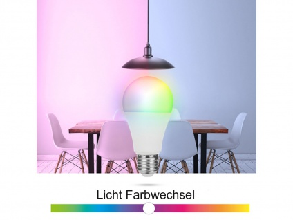 2er Set intelligente E27 Funk Leuchtmittel Smarthome PRO - dimmbar & RGB Farben - Vorschau 4