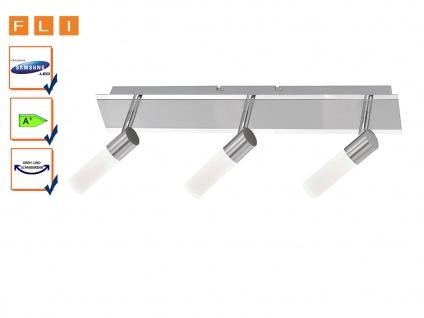 4-fl Deckenstrahler inkl Nickel matt // Glas weiß LED Trio-Leuchten