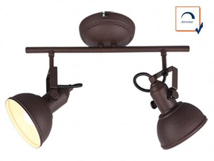 Deckenspot im Retro Look aus Metall in Rost dreh-und schwenkbar Wandstrahler E14 - Vorschau 3