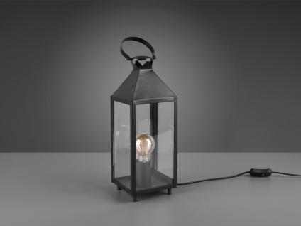 LED Tischleuchte Laterne schwarz Metall 13x13cm 46cm hoch für die Fensterbank - Vorschau 4