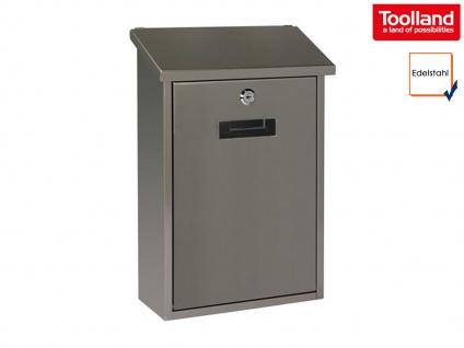 Edelstahl Briefkasten mit 2 Schlüssel Design Postkasten Wandbriefkasten Mailbox