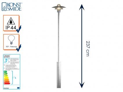 Wegeleuchte Standleuchte MODENA galv. Stahl, E27, Höhe 225 cm, IP44