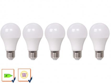 5er Set LED Leuchtmittel 10W, 810 Lm, warmweiß, E27, 2700 Kelvin LED Glühbirne