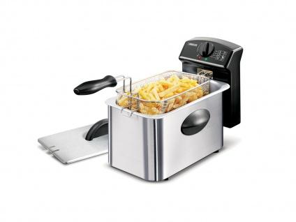 PRINCESS Elektrische 4 Liter Kaltzonen Öl Fritteuse mit Filter Pommes frittieren