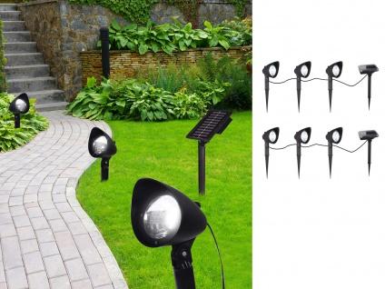 6XLED Solarlichter für den Garten Erdspieß Wegeleuchten mit seperates Solarpanel