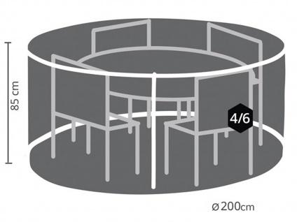 Schutzhülle Abdeckung rund für Gartenmöbel, Plane Ø 200cm witterungsbeständig - Vorschau 2