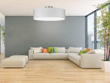 Deckenleuchte mit Stoff Lampenschirm Weiß 50cm - Textil Deckenlampe Stoffschirm - Vorschau 5