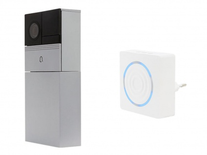 Wifi Video Türsprechanlage Einfamilienhaus mit Funk Zusatzgong - Smartphone App