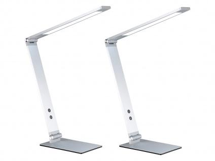 2 LED Schreibtischleuchten Aluminium verstellbar Dimmer & Lichtfarben Bürolampe