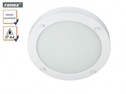 Runde Deckenleuchte VERONA weiß fürs Bad, Badezimmerlampe Beleuchtung Bad Decke