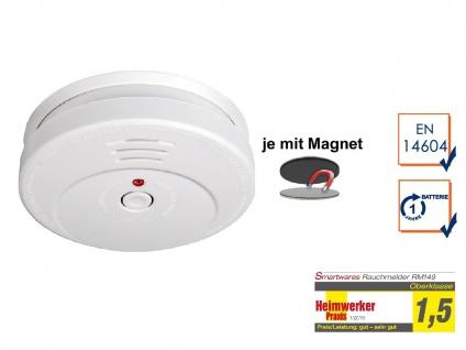 Rauchwarnmelder TÜV zertifiziert mit EASY Magnetmontage, Brand Feuer Melder