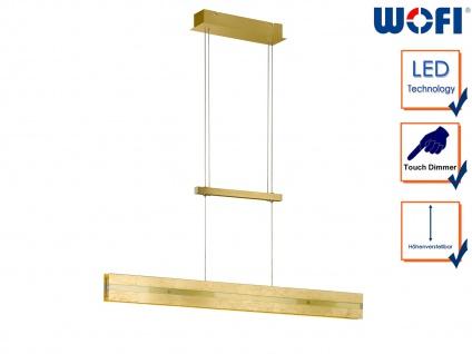 Goldene LED Pendelleuchte dimmbar höhenverstellbar 14, 5W, Pendel Esstischlampe