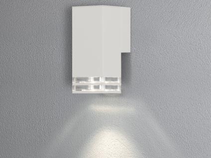 ALU Wandlampe für Außen & Innen Down Light IP44 Weiß 19cm Fassadenbeleuchtung