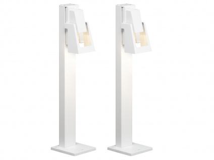 2er-Set Wegeleuchten POTENZA Pollerleuchten austauschbares LED Modul