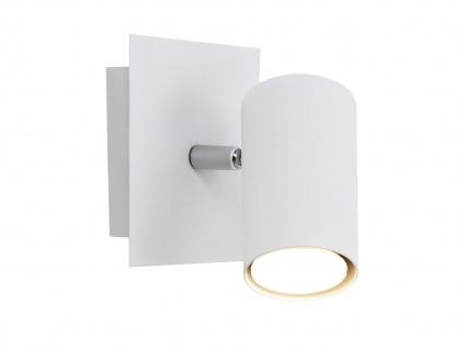 Zeitlose Wandlampe Marley aus weißem Metall mit 1 schwenkbarem Spot, GU10 Sockel