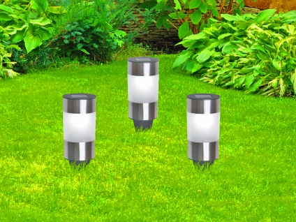 Solarbetriebene Gartenleuchten für draußen - LED Außenleuchten im 3er SET, IP44 - Vorschau 4