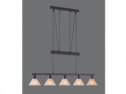 Trio JoJo-Balkenpendel, E14, L.: 102cm, rostfarbig, Glas alabasterfar