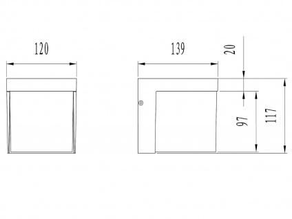 LED Außenwandleuchte, Terrassenbeleuchtung Wand, Design Würfel, Außenleuchte - Vorschau 3