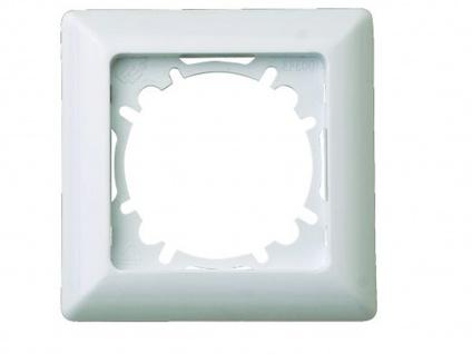 1-fach Rahmen / Blende für Innen aus Kunststoff, in polarweiß, eckig, GAO