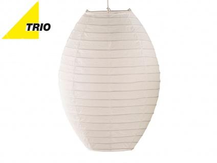 Trio Lampenschirm Japan-Kugel oval Papier weiß Ø 40cm, Pendelleuchte Lampion