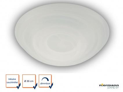 LED Deckenleuchte Deckenschale rund Glas Alabaster Ø30cm LED Küchenlampe dimmbar