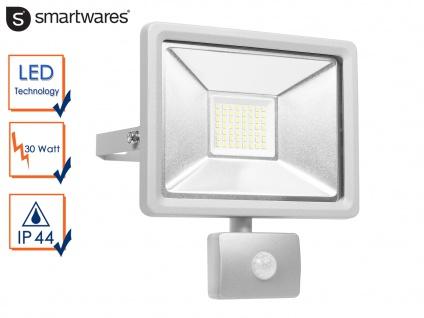 30W LED Strahler Fluter Bewegungmelder 10 Meter Scheinwerfer Wandstrahler außen