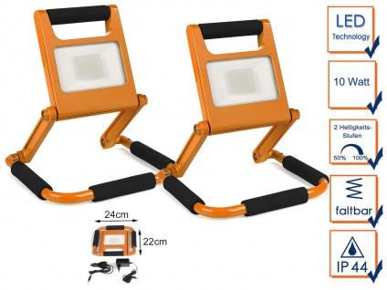 10W LED Baustrahler Akku - 12V & 230V - Baustellenlampen Baustellenstrahler IP44