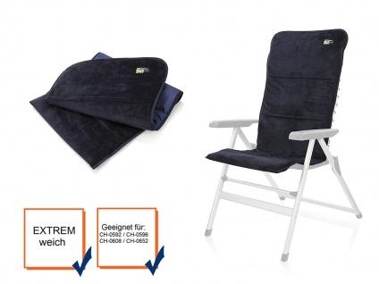 Gepolsterte Velours Sitzauflage für Hochlehner in marineblau für Hochlehner - Vorschau 3