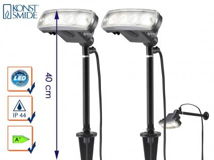 2er-Set LED Stableuchten Erdspießleuchten Gartenstrahler Gartenspot AMALFI IP44