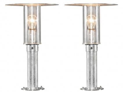 2er Set Konstsmide Sockelleuchte Wegeleuchte MODE, bruchsicher, Lampe außen