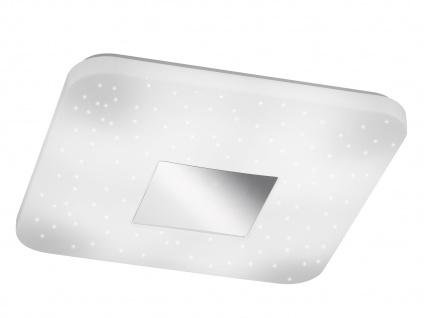 Quadratische LED Deckenleuchte mit Sternhimmel-Effekt, 33 x 33cm, Schlafzimmer - Vorschau 2