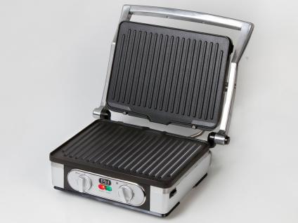 Kontaktgrill Tischgrill Grillzange, abnehmbare Platten Paninimaker 1800W 29x23cm - Vorschau 3