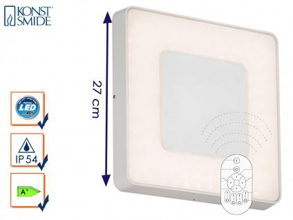 LED Wandleuchte / Deckenleuchte CARRARA eckig inkl. Fernbedienung, 25W, IP54
