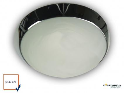 LED Flurleuchte LED Korriodorlampe Esszimmerlampe LED Leuchte rund Ø40cm Chrom - Vorschau 2