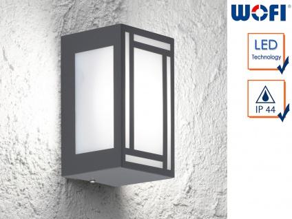 LED Außenwandleuchte Edelstahl Kunststoff Wandleuchte außen Fassadenbeleuchtung