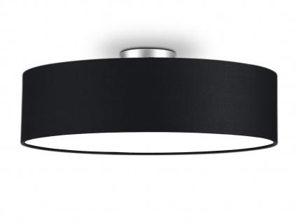 Deckenleuchte mit Stoff Lampenschirm Schwarz 50cm Textil Deckenlampe Stoffschirm