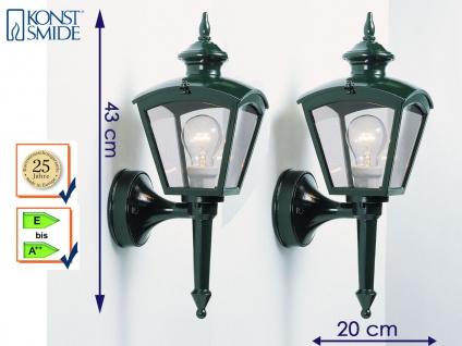 Konstsmide 2er Set Wandleuchte außen Alu grün Gartenlampe Laterne Außenlampen
