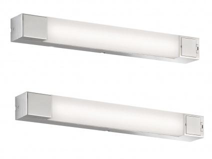 SET 2 LED Wandlampen mit Steckdose für über Badspiegel Badlampen Spiegelleuchten