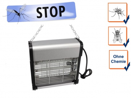 Elektrische Stechmückenfalle Insektenvernichter mit UV Licht 2x 6W, Bereich 30m²