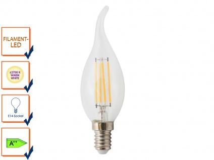 FILAMENT-LED Kerze 4 Watt 400 Lumen 2700 Kelvin E14 warmweiß
