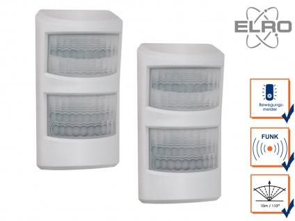 2 Haustier Bewegungsmelder 10m / 110° Smart Home ELRO AS8000 Alarmsystem mit App
