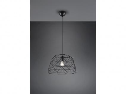Retro Hängelampe LED 1 flammig Metall Korbleuchte Schwarz matt Ø38cm Höhe 25cm