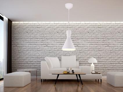 Pendelleuchte 1 flammig Metall Lampenschirm Ø20cm Weiß für über Esszimmertisch