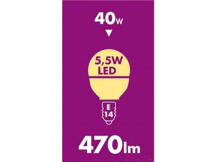 5er-Set LED Leuchtmittel 6 W warmweiß, E14, 470 Lumen / 3000 Kelvin - Vorschau 4